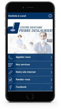 Application mobile du Dr Pierre Deslauriers