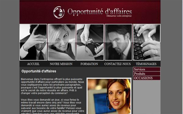 Opportunité d'affaires de site porno